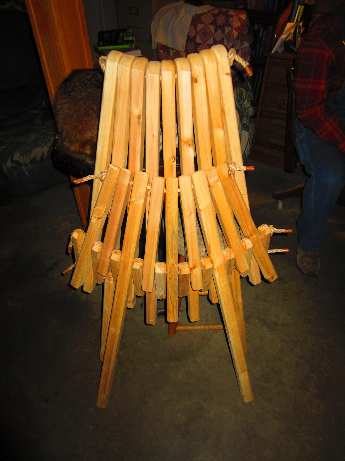 Super Simple Folding Adirondack Chair for Tiny Homes Porches